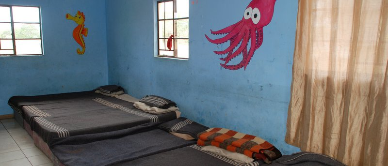One of the sleeping areas for the children