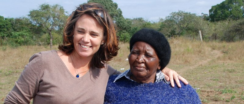 Paula Louw with Gog- who started the school