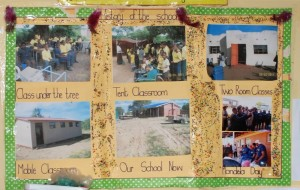 This poster on the wall of the school show the tenancity of the Khulani journey.